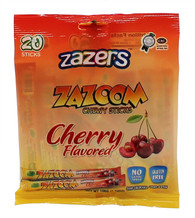 Zazers Zazoom Chewy Sticks Cherry Flavored Color/Gluten Free - 20 Pack