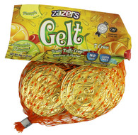 Zazers Gelt Coins Gold Pine Apple Fruit Nut Free Chewy Taffies Kosher - (22 Mini Bags of 8 Coins)