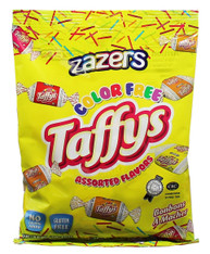Zazaers Color Free Assorted Flavors Kosher Taffys - 1.42gram