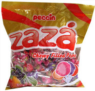 Zaza Assorted Pulp Pops Fruit Flavored Chewy Filled Kosher Lollipops