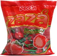 Zaza Strawberry Chewy Filled Lollipops
