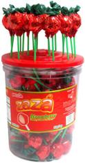 Zaza Strawberry Chewy Filled Lollipops Display (90 Ct)