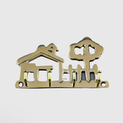 Brass Key Holder (House)