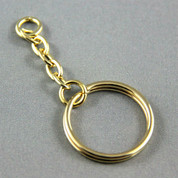 Key Ring - Gold Link Chain