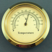50mm Thermometer gold dial