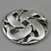 Pot Pouri Lid - Pewter - Dolphins
