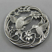 Pot Pouri Lids - Pewter - Hummingbirds