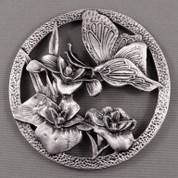 Pot Pouri Lids - Pewter - Butterfly