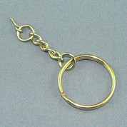 Key Ring - Gold Link Chain with Eyelet Screw
