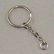 Key Ring - Nickel Link Chain