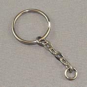 Key Ring - Nickel Link Chain
