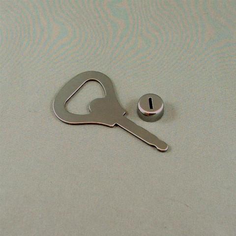 Stainless Steel - Flat Shaft bottle opener