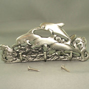 Pewter Medium Dolphin Key Hanger