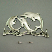 Pewter Large Dolphin Key Hanger