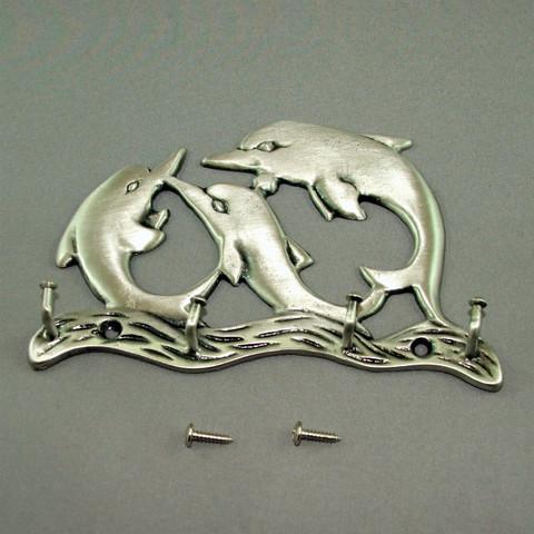 Pewter Large Dolphin Key Hanger