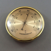 108mm Brass Bezel Thermometer Gold