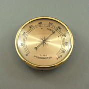 108mm Brass Bezel Hygrometer Gold