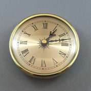 108mm Brass Bezel Gold Roman Clock