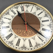 200mm Ivory Fancy Roman Insert Clock