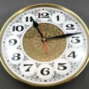 200mm White Fancy Arab Insert Clock