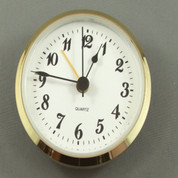 90mm Economy White Arab ALARM insert clock