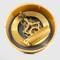 150mm Gold Skeleton Clock- Battery cover on