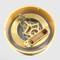 150mm Gold Skeleton Clock- Battery cover off