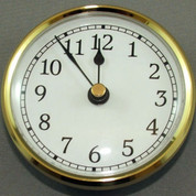 70mm White Arab Insert Clock