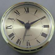 70mm Gold Roman Economy Clock