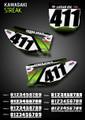Streak Number Plates Kawasaki