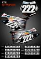 Mini Strokes Number Plates KTM