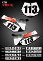 Stock Number Plates KTM