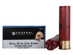 "Federal Strut-Shok Turkey Ammunition 12 Gauge 3-1/2"" 2 oz Buffered #4 Shot Box of 10 - FT139F 4"