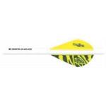 Bohning Archery Bohning Blazer Shrink Fletch Yellow Tiger/White