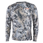 Sitka core Lightweight crew 10064-EV  GORE™ OPTIFADE™ Concealment Elevated II is designed for whitetail hunters in an elevated position. Weight: 5.1 oz. // Size L Fabric: Quick-Dry, Lightweight Comfort Stretch Knit (100% Polyester). Polygiene® Odor Control Technology safely neutralizes odor caused from sweat.