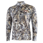 Sitka Merino Heavyweight Half Zip 10074  • GORE™ OPTIFADE™ Concealment Elevated II is designed for whitetail hunters in an elevated position. • Materials: 290-Gram 59% 17.5 Micron Merino / 6% Nylon Core-Spun Face Blend / 35% Polyester Interior for natural odor resistance and durability.