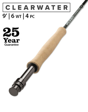 Orvis Clearwater Fly Rod 9' 6wt 4pc 2S7L-5151