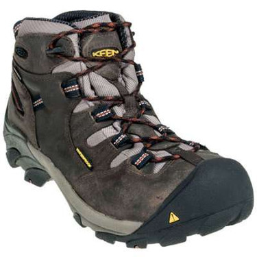 2216e67a37b Keen Men's Detroit Mid Soft Toe Waterproof Work Boots Olive/Brown ...
