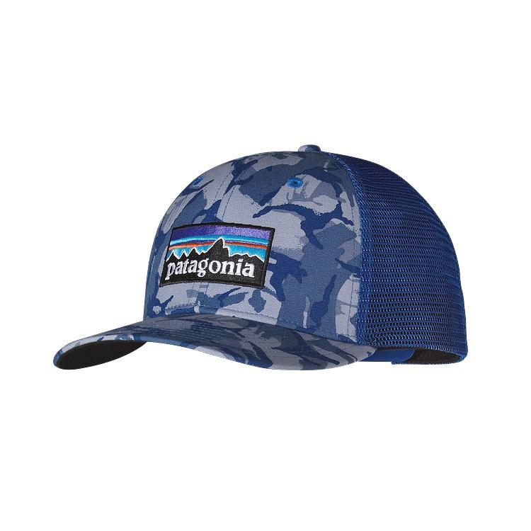 Patagonia P6 Trucker Hat - BigCamo  Leaden Blue (BGLB) - 38017 ... e36feded57c