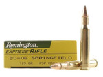 Remington .30-06 Springfield 125 Grain Core Lokt Pointed Soft Point Ammo - 20 Rounds/Box - R30061