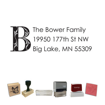 Custom Return Address Stamp Style - Font Style - Custom Stamp Place
