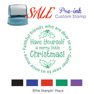 SALE ITEM: Pre-Ink Stamp: Christmas Style PZ-124
