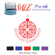 SALE ITEM: Pre-Ink Stamp: Ornament Style PZ-127