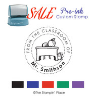 SALE ITEM: Custom Pre-Ink Stamp: Desk Style PZ-131