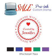 SALE ITEM: Custom Pre-Ink Stamp: Created by Style PZ-134