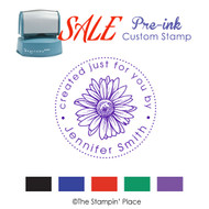 SALE ITEM: Custom Pre-Ink Stamp: Daisy Style PZ-135