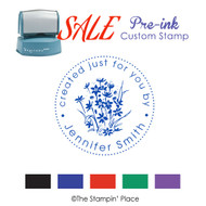 SALE ITEM: Custom Pre-Ink Stamp: Wildflowers Style PZ-136