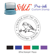 SALE ITEM: Custom Pre-Ink Stamp: Song Bird Style PZ-137