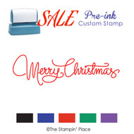 SALE ITEM: Pre-Ink Stamp: Merry Christmas Style PZ-106