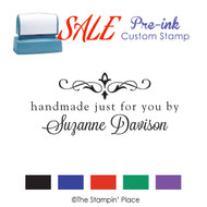 SALE ITEM: Custom Pre-Ink Stamp: Handmade by Style PZ-108